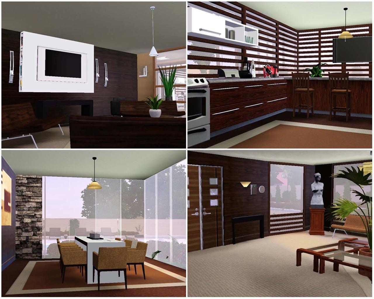 Mod the sims arkana paradise modern house for Sims interior designs 1