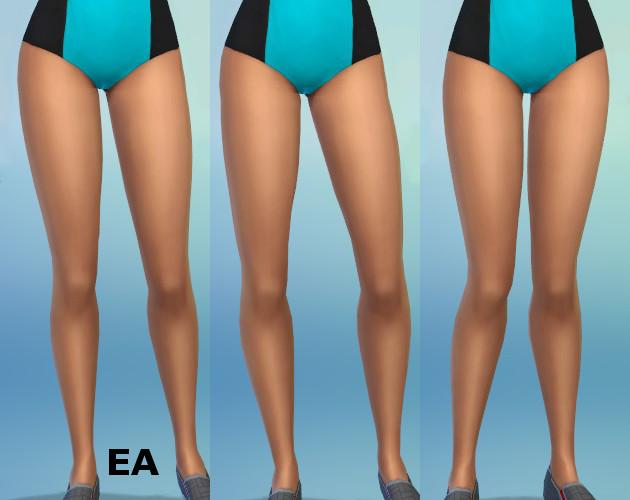 Mod The Sims - Enhanced Leg Sliders