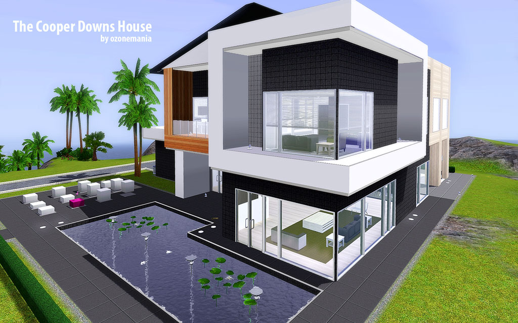 Mod the sims the cooper downs house for Sims 4 balcony