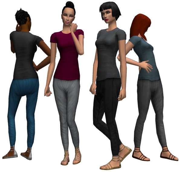 Mod The Sims - Harem Pants (Untuckable + 2 Styles!)