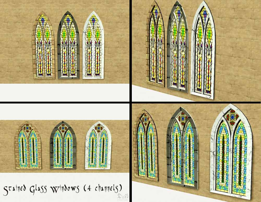 Mod the sims build your own cathedral medieval challenge for Window design 4 by 4