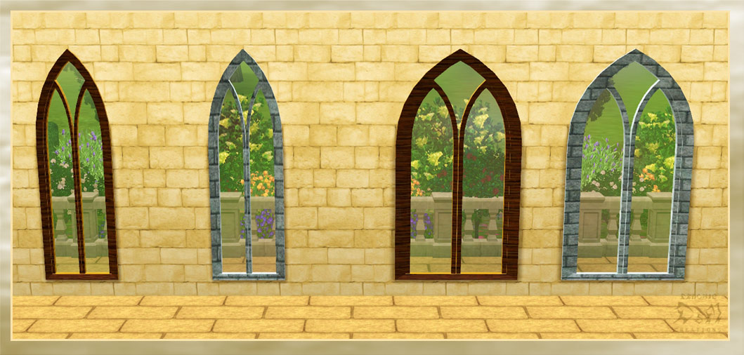 Mod the sims request gothic window for 2 window