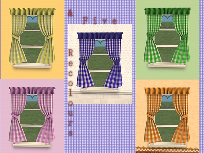 Great Mod The Sims Vichy Kitchen Curtains New Mesh And Recolours