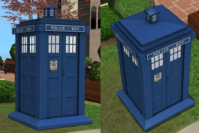 Mod The Sims The Tardis From Dr Who Requested New Mesh
