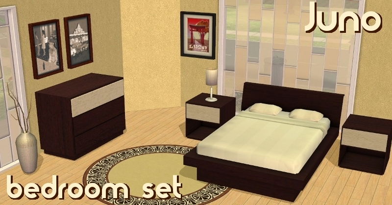 Mod The Sims Juno Bedroom Set 5 new meshes by request