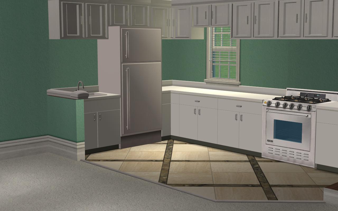 Sims 3 Kitchen Mod The Sims 3 Chrysanthemum Circle Narrow Compact Unfurnished