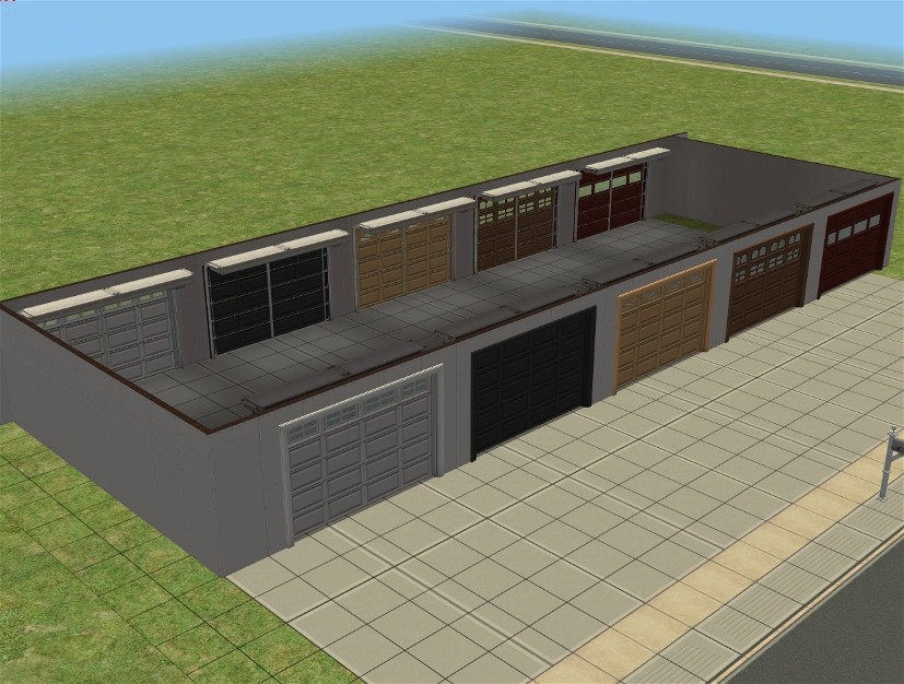 Mod the sims cheat free rear entry garage backwards for Rear garage door