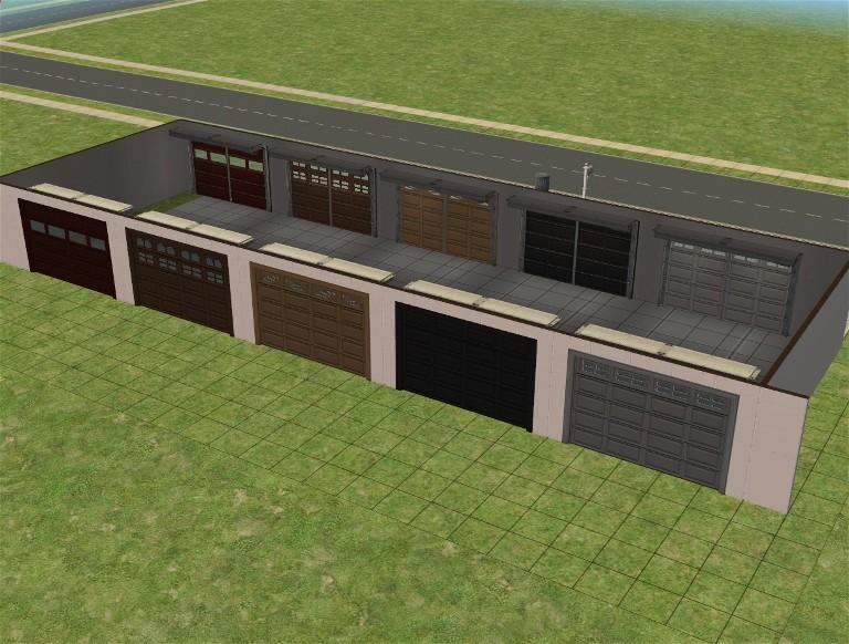 Mod The Sims Cheat Free Rear Entry Garage Backwards Garage Door Mesh