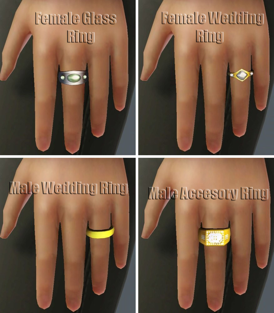 Mod The Sims Ea Rings For Teens Thru Elders