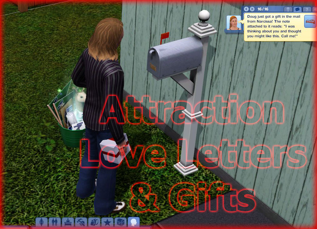Mod The Sims - More/Less Attraction Calls & Love Letters