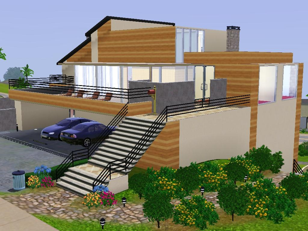 Mod the sims palo alto modern minimalist for Minimalist house sims 2
