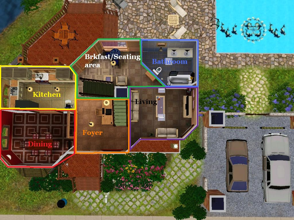 Mod the sims 3br 2ba versatile family home for 3br 2ba house plans
