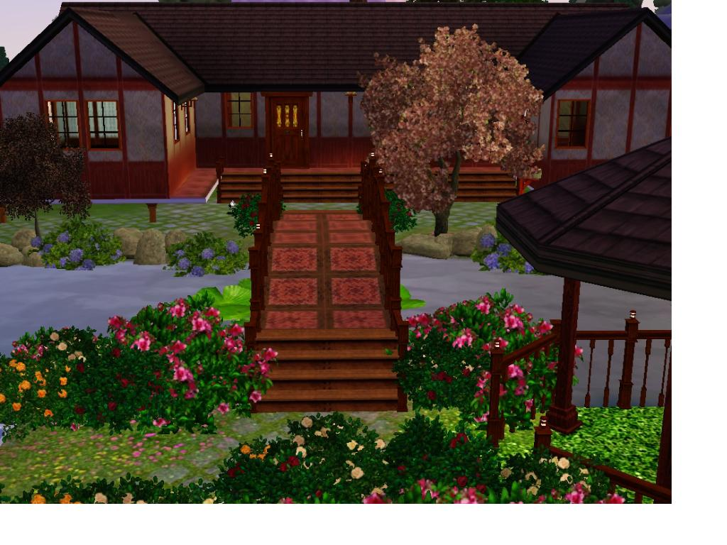 Mod the sims traditional japanese home for Asian houses photos