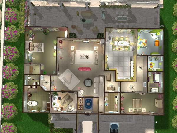 Mod the sims perhaps a residence in the provence france for Hair salon floor plans download