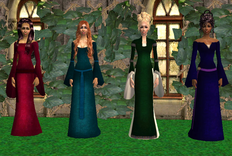 Mod The Sims Medieval Velvet Dresses