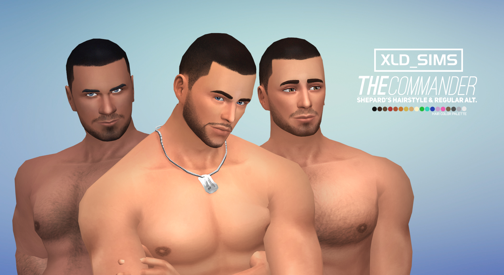 The Sims 4 Male Hair