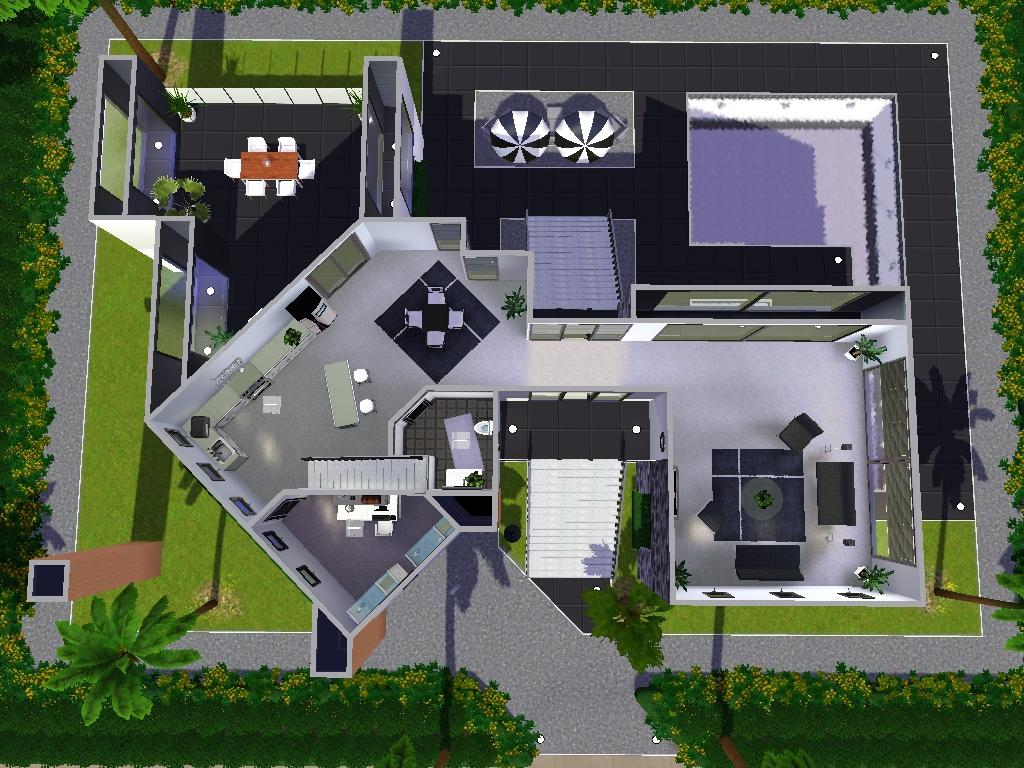 Sims 3 Modern Mansion Floor Plans: Ozonemania Inspired Modern Home