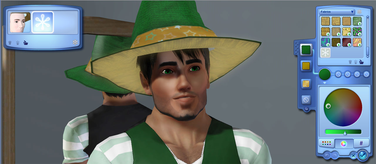 the sims 2 how to take off witch hat