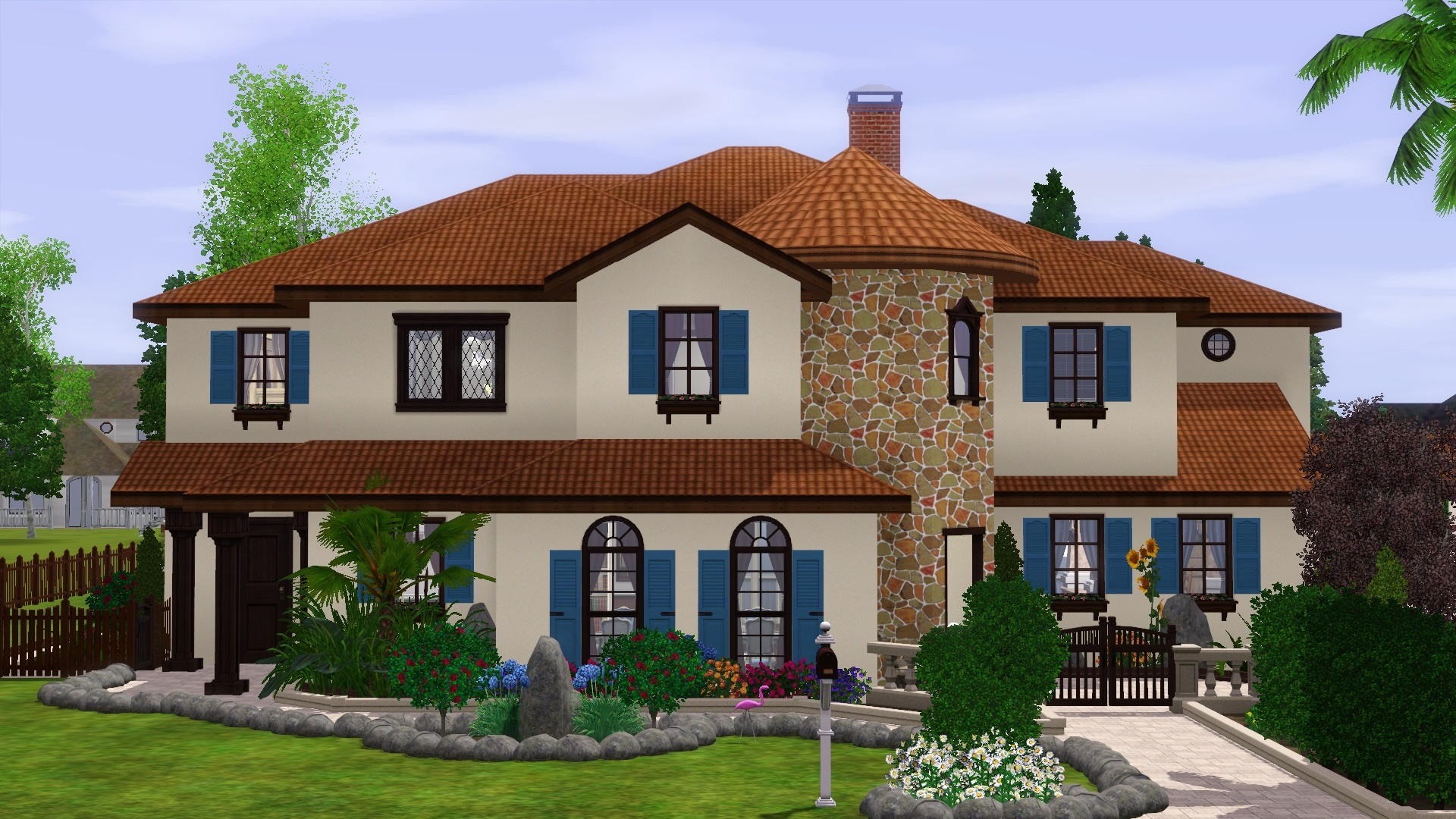 Mod the sims spanish estate for House 4