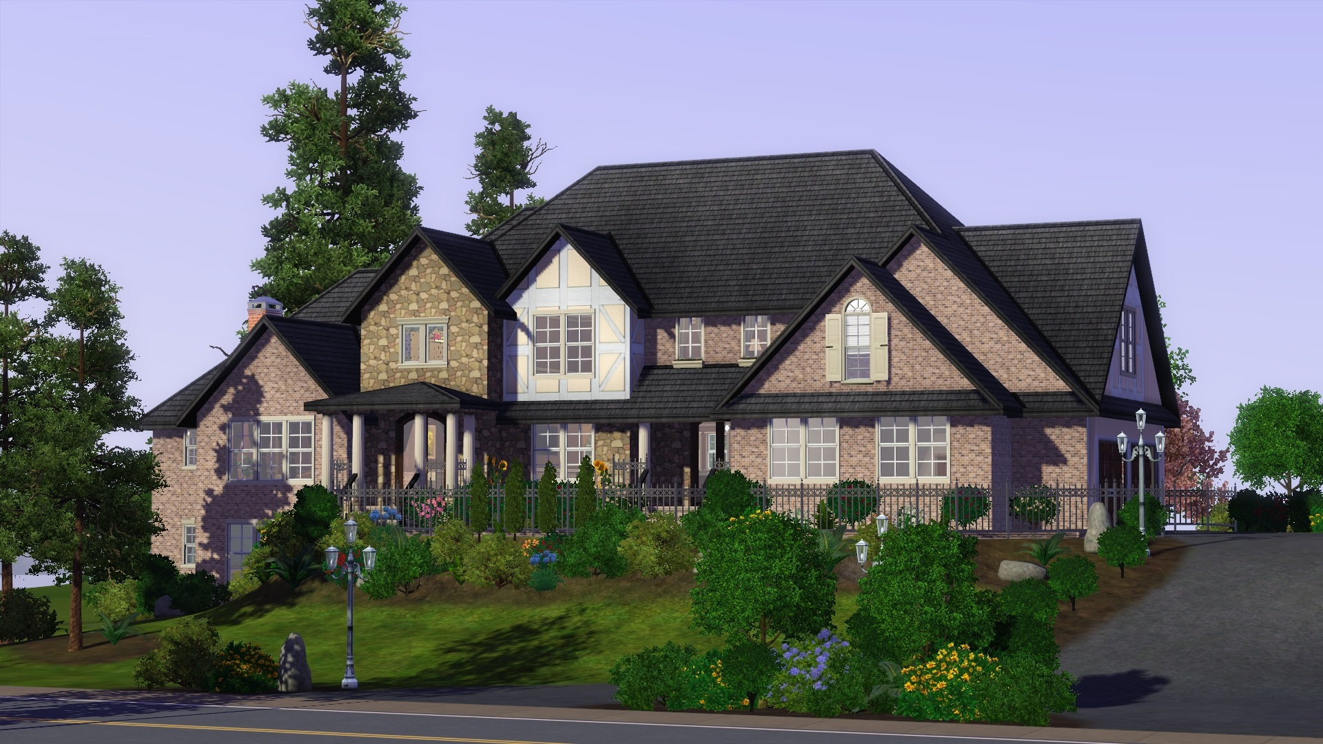 Sims 3 family mansion images for What is family home