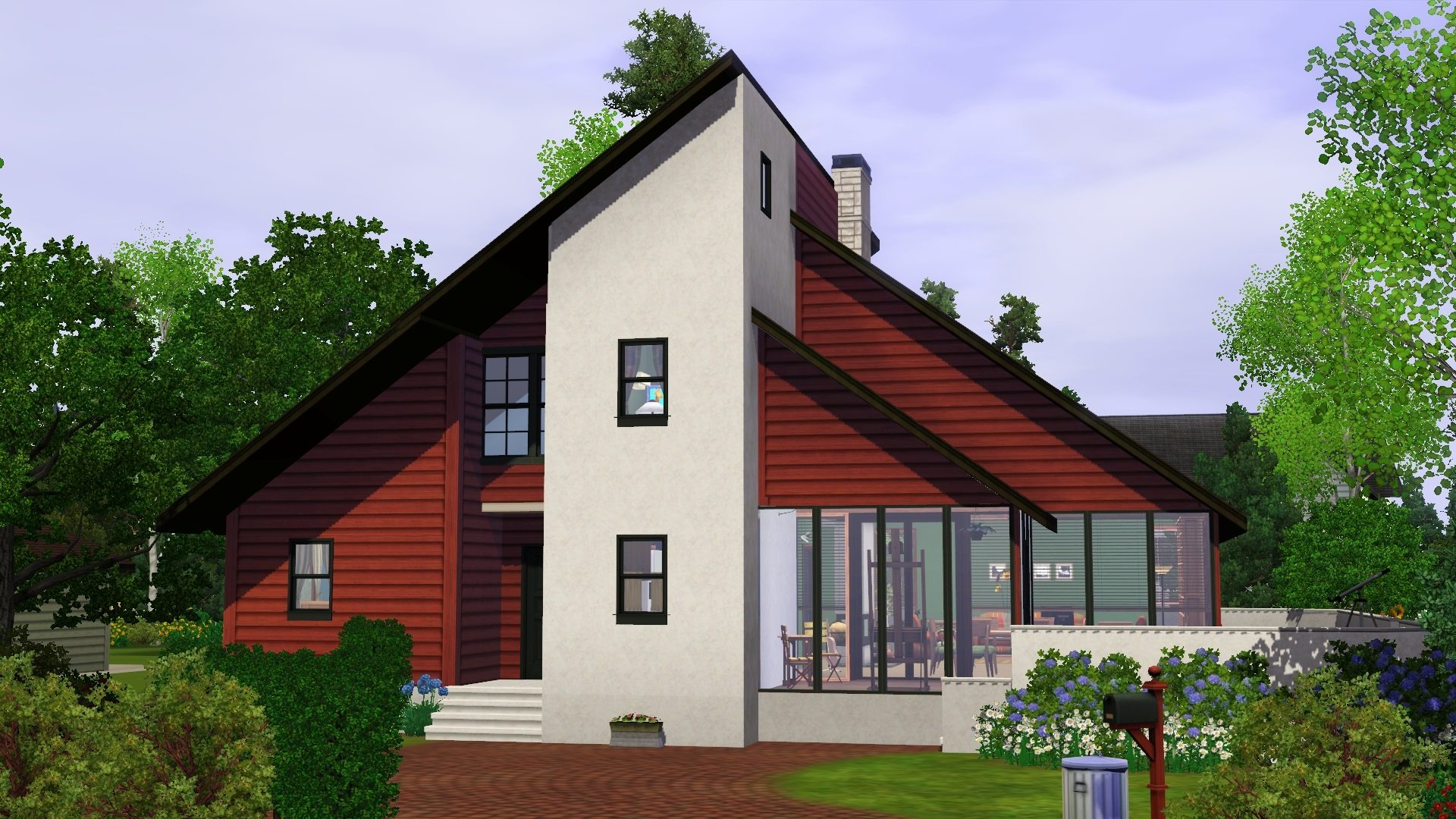 Mod the sims 90 39 s contemporary house for Mordern house