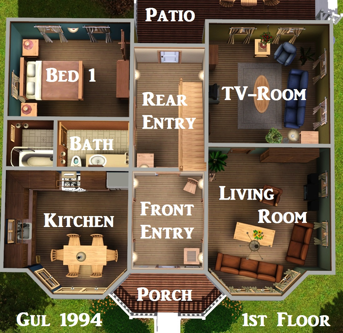The floor plan below shows the original 1994 floor plan all three floor plans and interior shots can be found in the images section