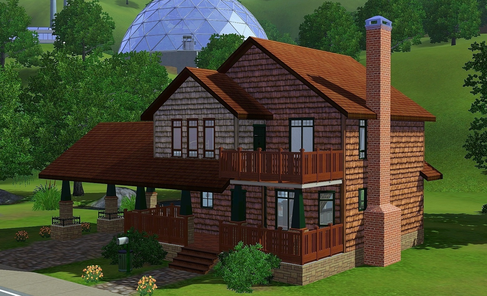 Mod the sims sunset valley remodel cozy craftsman for Classic house sims 3