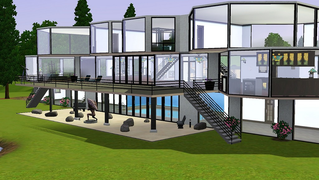 Mod The Sims Glass Mansion For Two