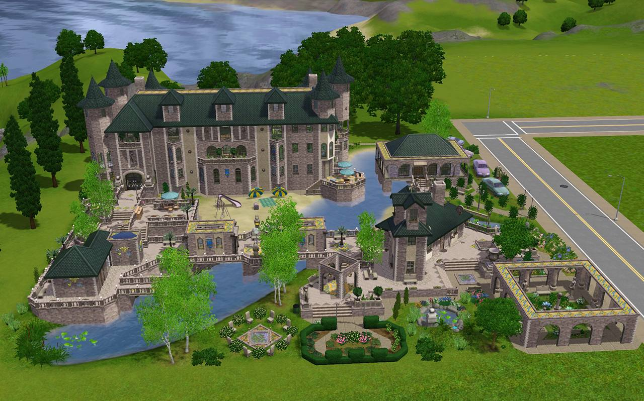 Mod The Sims The Fantasy Mansion No Cc