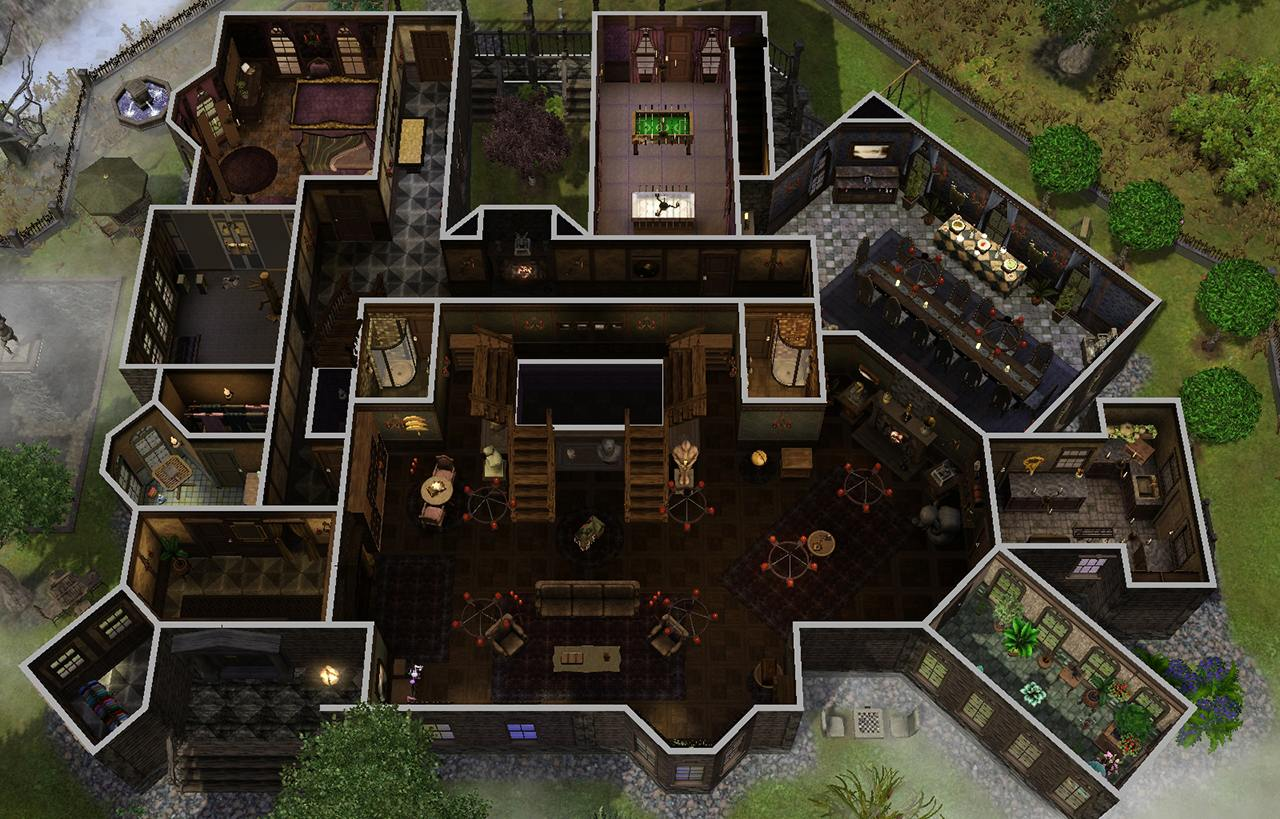 mod the sims   the spooky mansion
