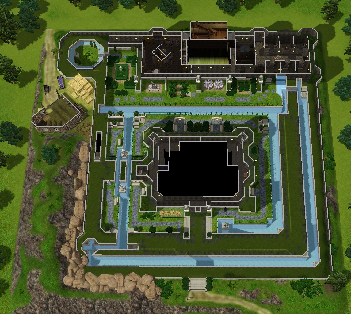mod the sims zelda castle inspired by ocarina of time