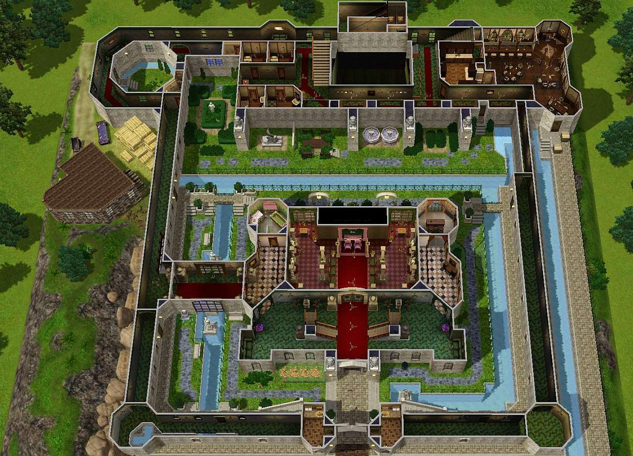 411763 on Sims 3 Modern Mansion Floor Plans