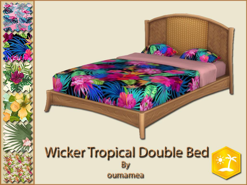 Мод Тропическая двуспальная кровать