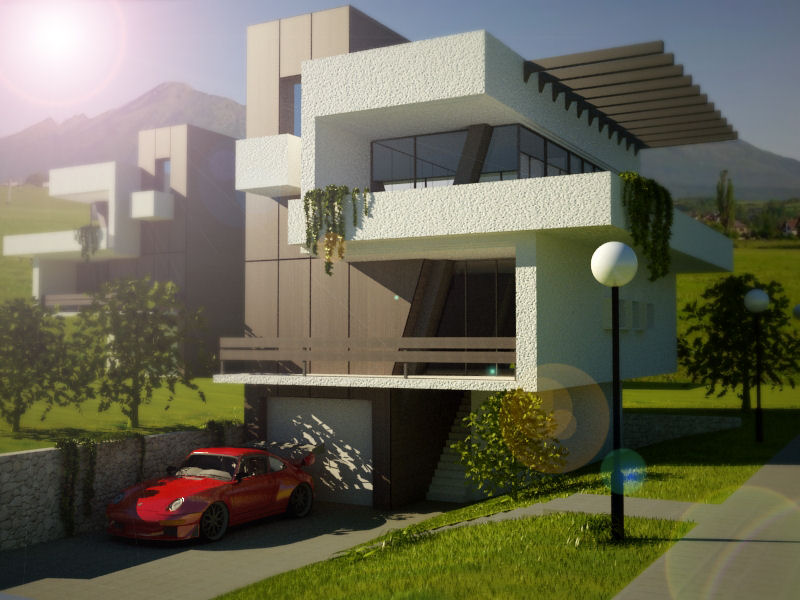 Mod the sims ultra modern house based on predicted for Modern house 3