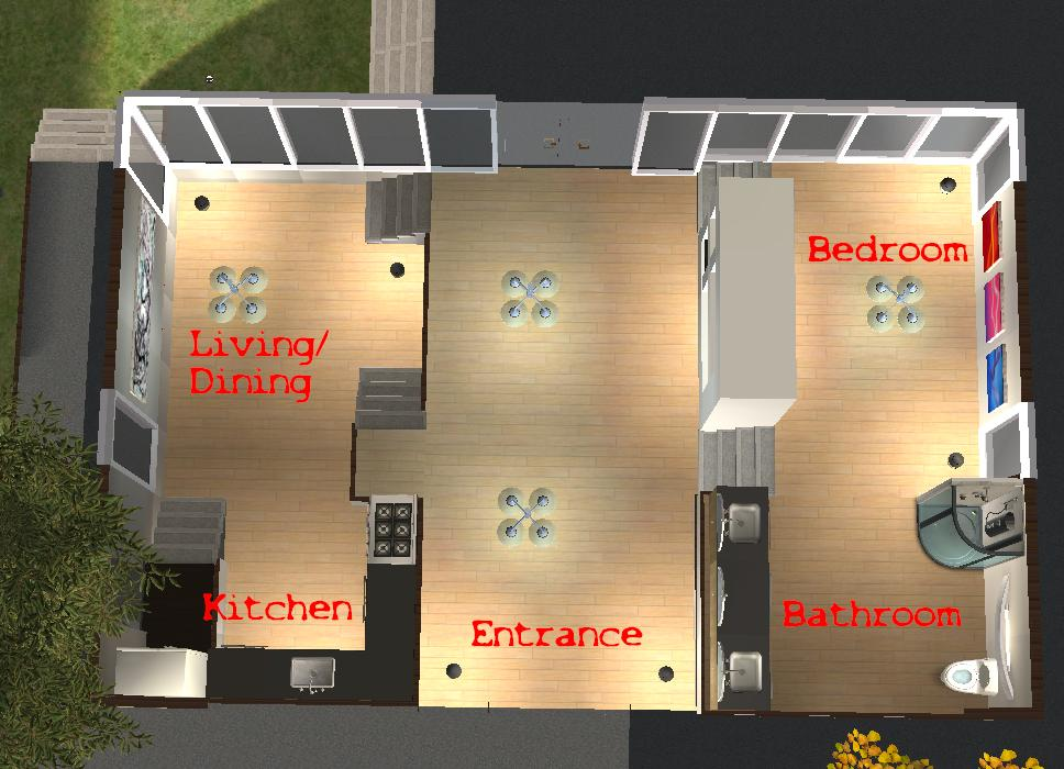 Mod The Sims Three Tier One Story Small Home