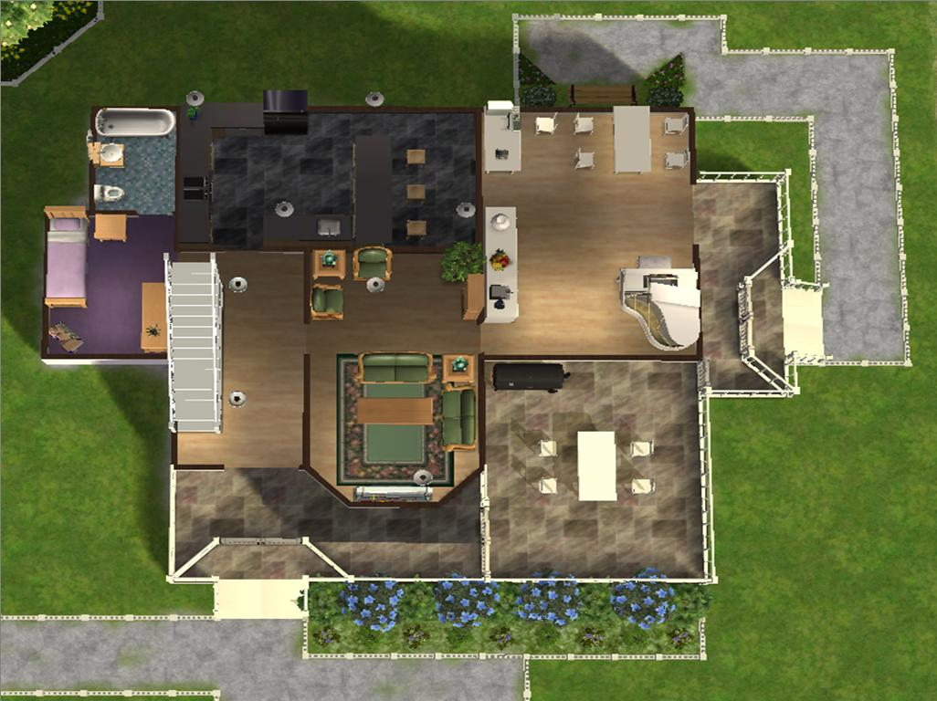 Mod the sims 3 bedroom 3 bathroom family home 3 family house plans