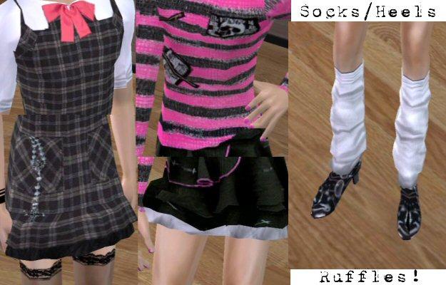 Mod The Sims - Jrock Inspired Skirt!