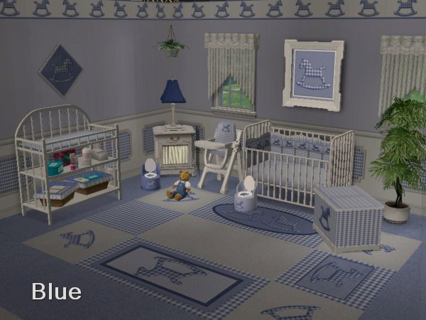 Mod The Sims Gingham Rocking Horse Complete Nursery
