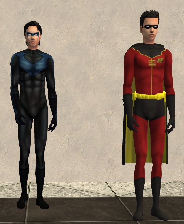 Mod The Sims - Nightwing and Robin Costumes