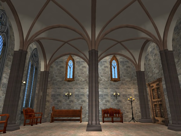 Mod The Sims Gothic Arch Pillars Two Story Vaulting