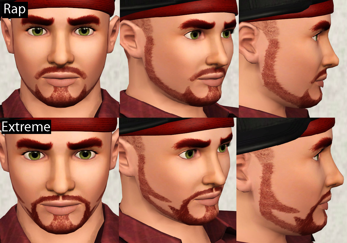 Superb Mod The Sims Four Jaw Beards Reuploaded Short Hairstyles For Black Women Fulllsitofus