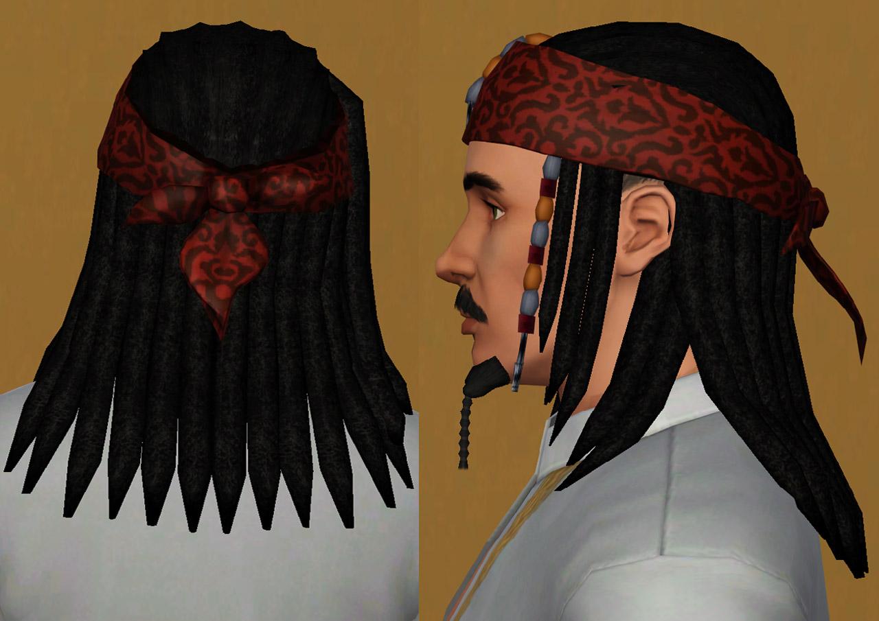Mod The Sims - Captain Jack Sparrow hair S3  All ages