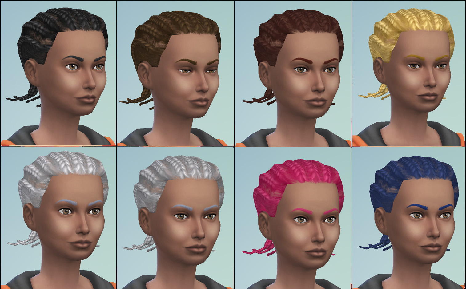 Magnificent Mod The Sims S2 Male Cornrows Unisex Conversion Hairstyle Inspiration Daily Dogsangcom