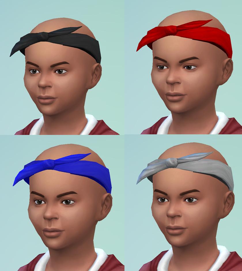 mod the sims s4 tupac bandana unisex child to elder