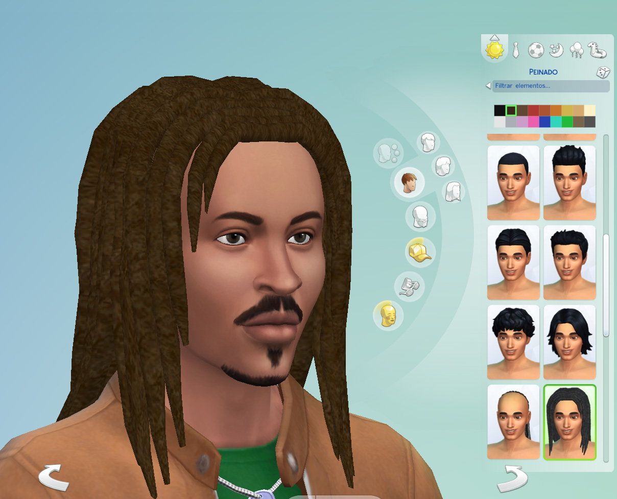 Mod The Sims - Bob Marley dreads Unisex  Child to elder