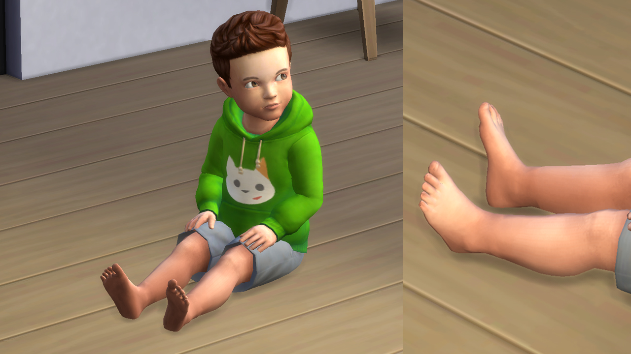 Mod the sims hd feet v3 update 21 01 2017 toddler plus fixed feets x voltagebd Image collections