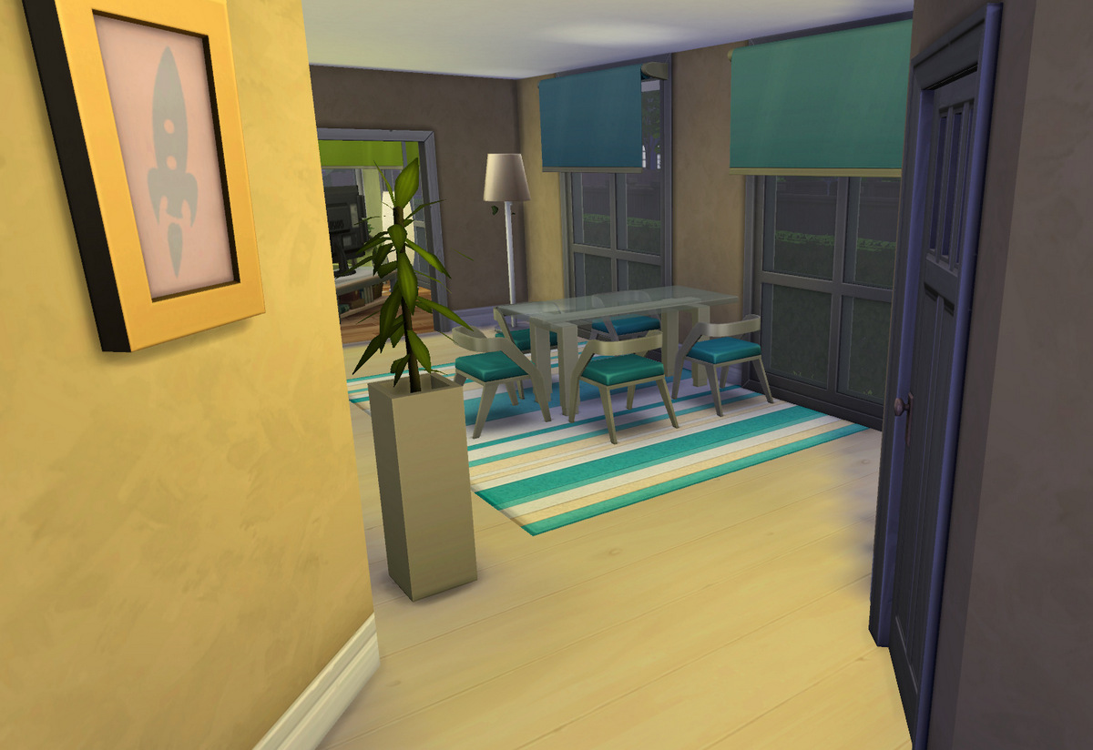 Mod the sims townhouse with balcony for Sims 4 balcony