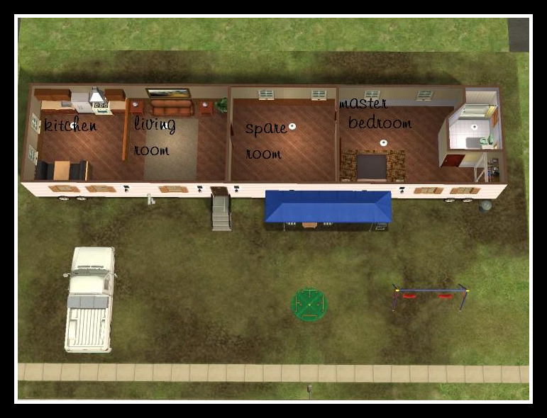 Mod The Sims Affordable 2 Bedroom Mobile Home For Sale