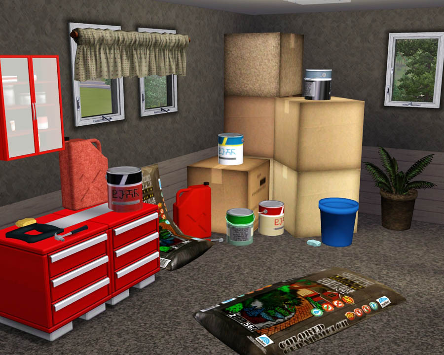 Mod the sims garage clutter for Garage pack tole colomiers