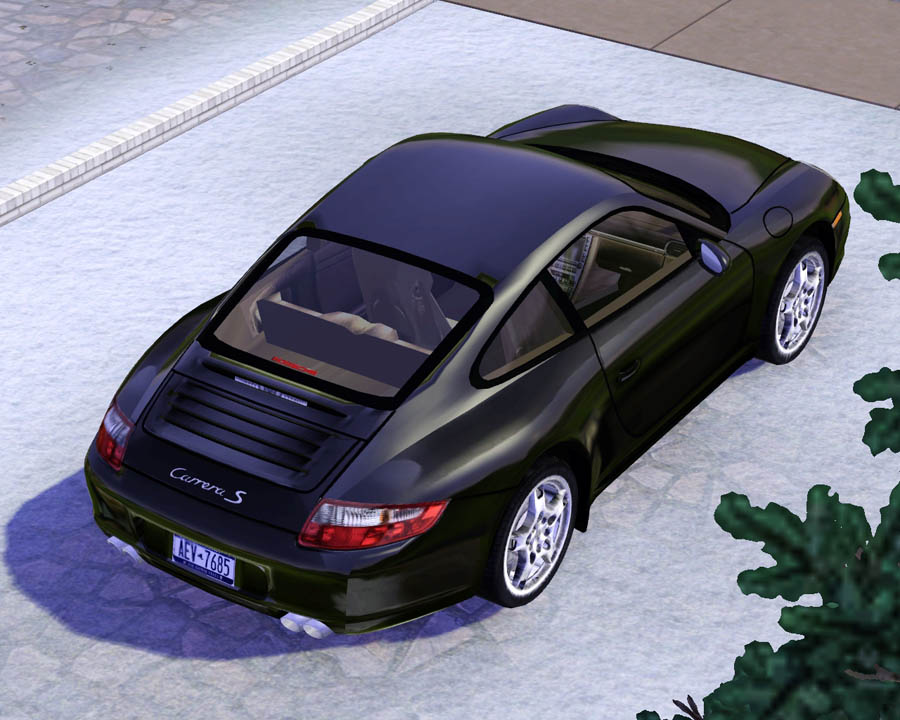 mod the sims 2008 porsche 911 carrera s. Black Bedroom Furniture Sets. Home Design Ideas